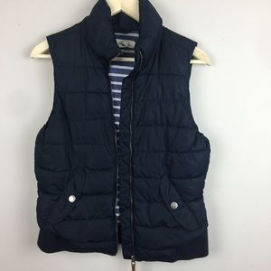 H&M navy puffer vest   medium